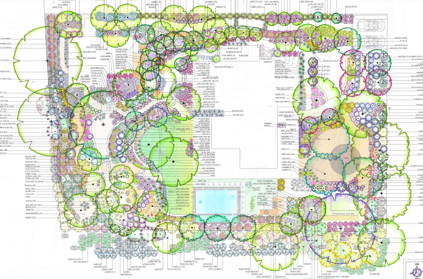 גן אבני בזלת, גן ים תיכוני, גן בדרום רמת הגולן, שביל אבני בזלת