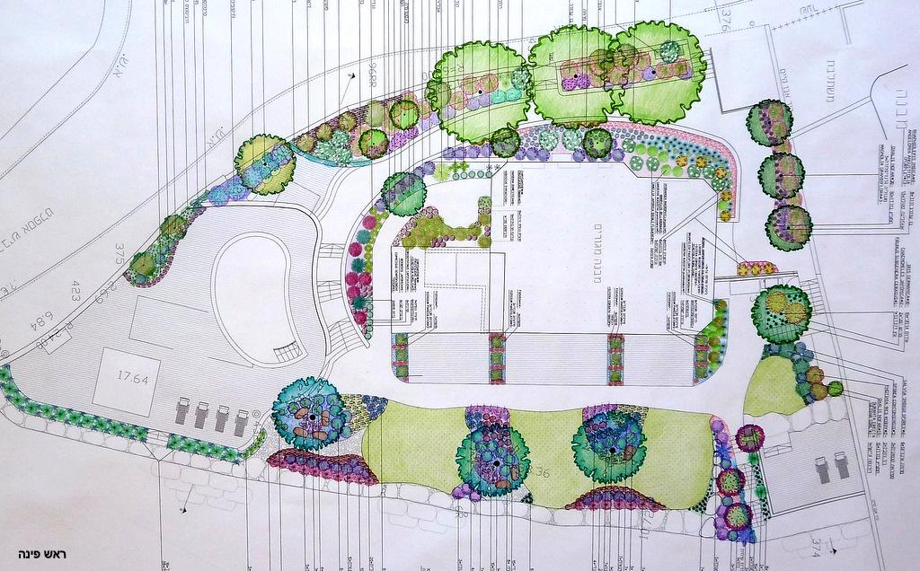 תכנון ועיצוב גן. תכנון צמחייה